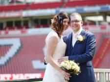 Een rood-wit gestreept huwelijk voor Emiel en Linda uit Geldrop: 'PSV is alles voor mij'