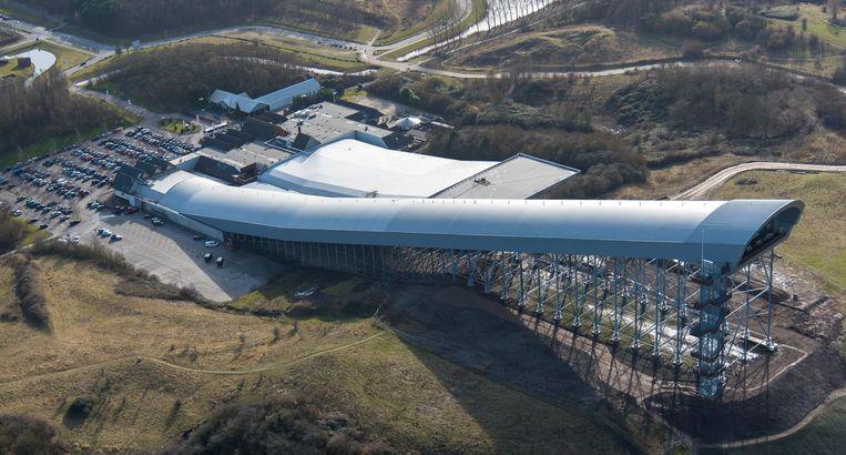 Luchtfoto van SnowWorld Zoetermeer. Beeld ANP