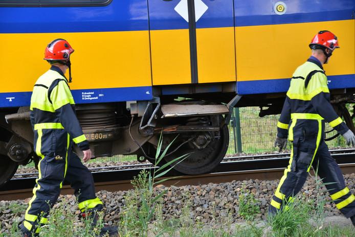 Ongeluk met trein in Breda