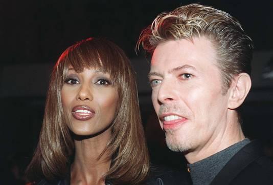 David Bowie en zijn vrouw Iman.
