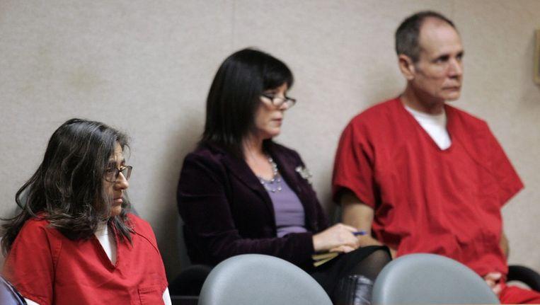 Ontvoerders Nancy (links) en Phillip (rechts) Garrido in de rechtbank. Beeld epa