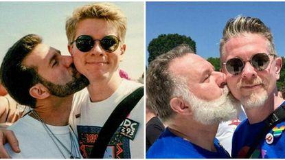 """""""Het is maar een fase"""": koppel recreëert schattige Pride-foto 24 jaar later"""