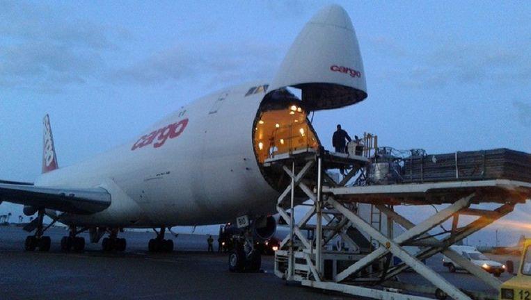 Algemeen beeld van de luchthaven van Oostende, niet specifiek van het wapentransport.