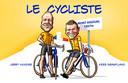 Jerry Huinder en Kees Graafland maken de AD-podcast Le Cycliste op en rond de Mont Aigoual.