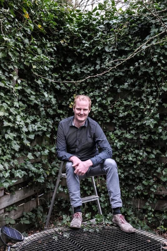 Voorzitter Ewald Berendsen van de winnende bouwgroep van vorig jaar.