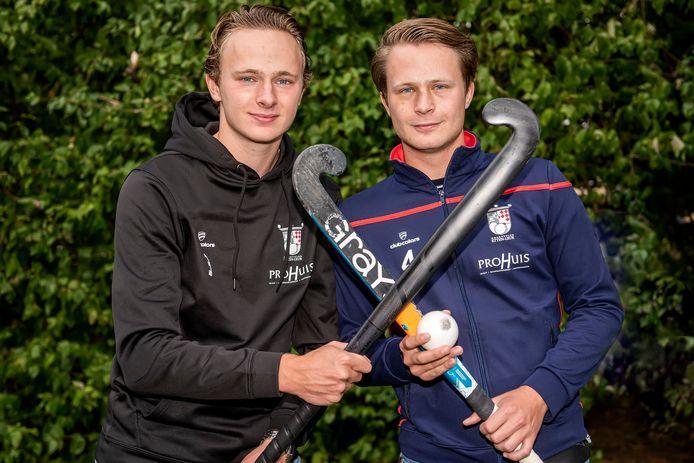 Hockeyclub Etten-Leur heeft dit seizoen twee Petits in de gelederen: Joris (links) en Tim.
