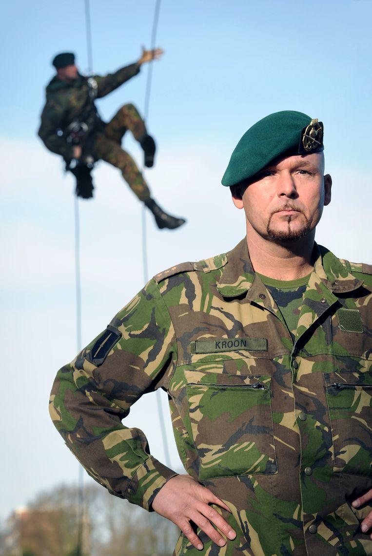 Marco Kroon in 2009, kort nadat hij de Militaire Willems-Orde had gekregen. Beeld Marcel van den Bergh / de Volkskrant