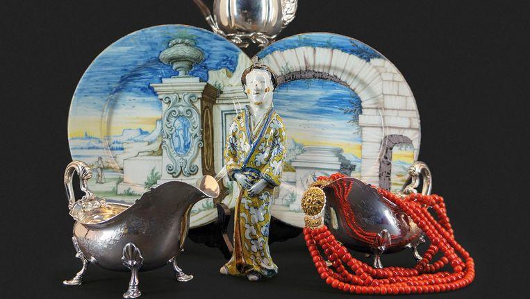 Een paar objecten van de ABN Amro-collectie Beeld De Eland