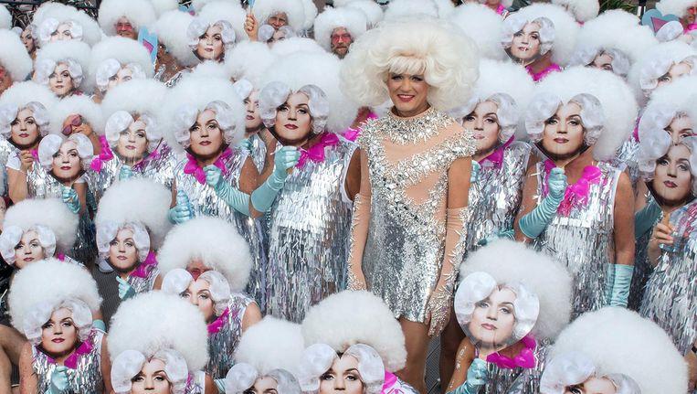 Dolly Bellefleur tijdens de Canal Parade. Beeld Eveline Renaud