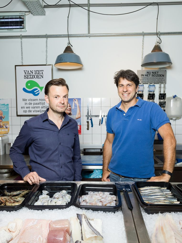 Teun van de Keuken tegenover Quirijn Bolle, directeur van Marqt. Beeld Ivo van der Bent