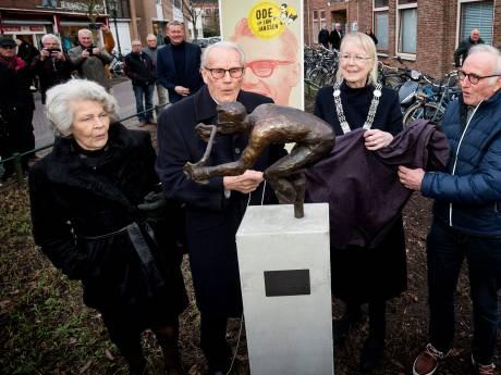 Nootdorpse wielerlegende Jan Janssen heeft nu ook zijn eigen beeldje: 'En ik ben nog niet eens dood!'