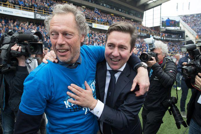 Michel Prued'Homme heeft als coach de meeste zeges achter zijn naam staan in PO 1, hier met Vincent Mannaert.