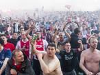 Teleurgestelde fans verlaten binnenstad na verlies Ajax