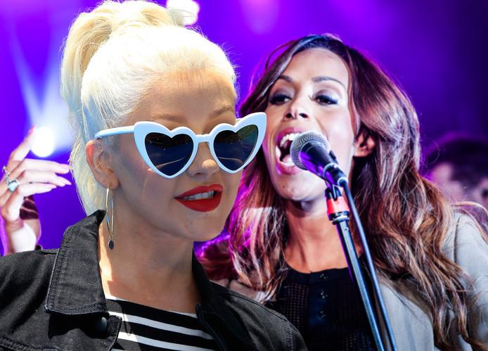 Glennis Grace en Christina Aguilera.