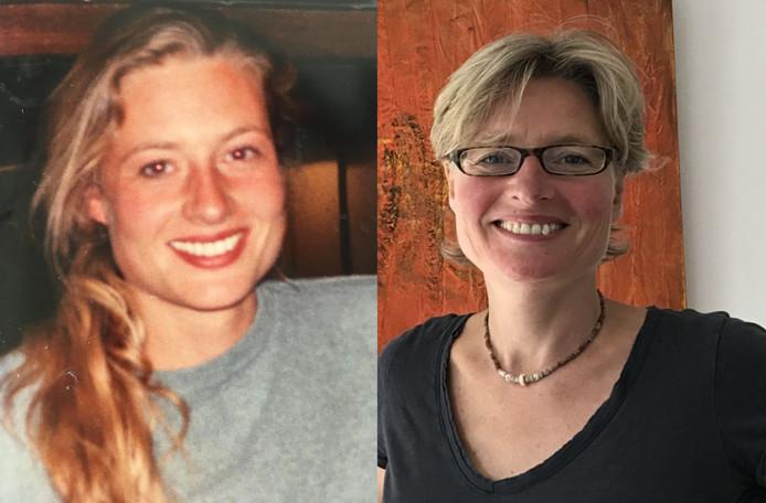 Valeska links op 23-jarige leeftijd, toen ze Eddie een lift op haar fiets gaf, en rechts nu.