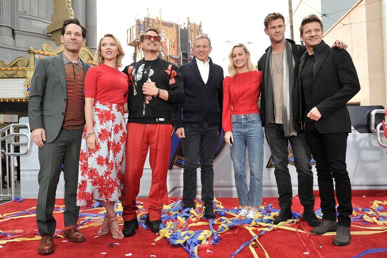 De cast van Avengers: Endgame. Beeld Richard Shotwell/Invision/AP