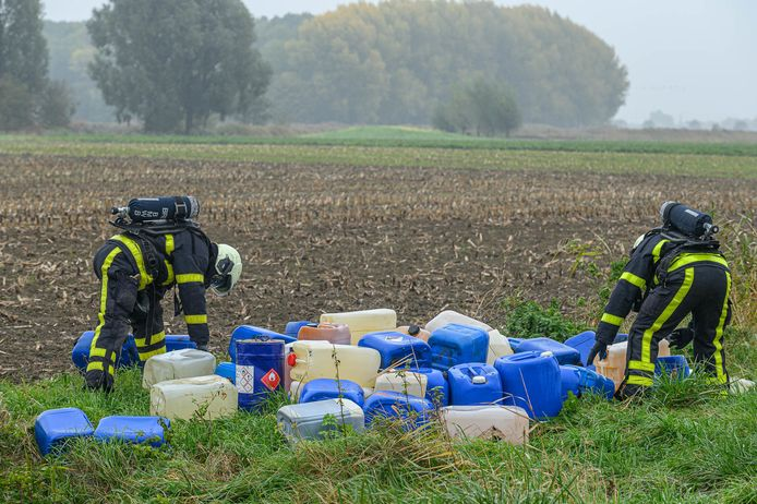 Drugsafval gedumpt in Prinsenbeek.