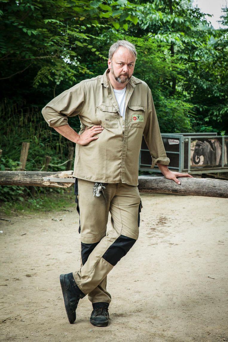 Ben Van Dyck, hoofdverzorger van de olifanten in ZOO Planckendael, heeft er een turbulente zomer op zitten.