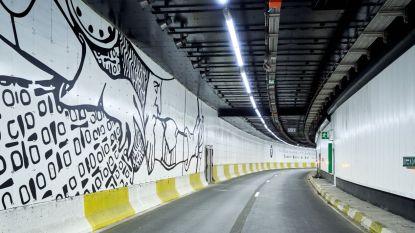 Na twee jaar: Hallepoorttunnel is eindelijke af en heeft een artistieke look