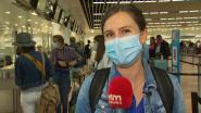 De eerste drukte op de luchthaven, sinds de coronacrisis