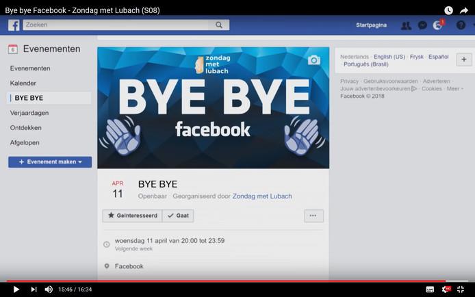 Arjen Lubach heeft Nederlanders opgeroepen om te stoppen met Facebook.