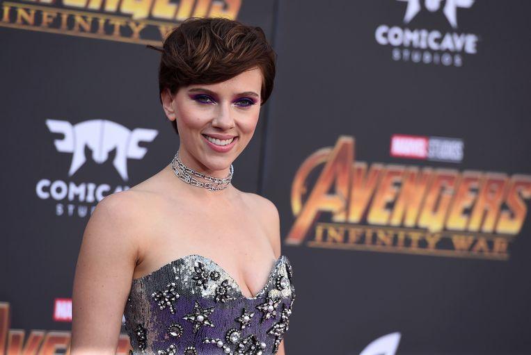 Scarlett Johansson bij de première van de film Avengers: Infinity War  in Los Angeles, april 2018.  Beeld Invision