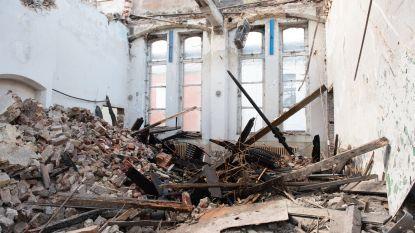 Gensters van slijpwerk veroorzaken brand in verlaten schoolgebouw
