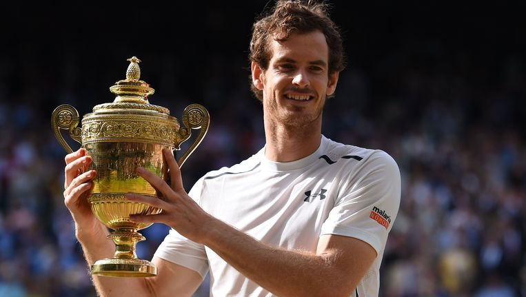 Murray won Wimbledon vorig jaar.