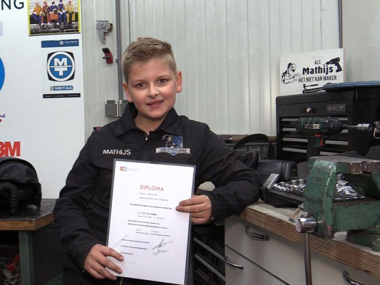 Mathijs (11) heeft zijn lasdiploma al op zak: 'Echt een mannetje van de toekomst'
