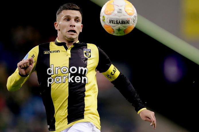 Bryan Linssen scoorde eerder dit seizoen voor Vitesse tegen FC Utrecht.