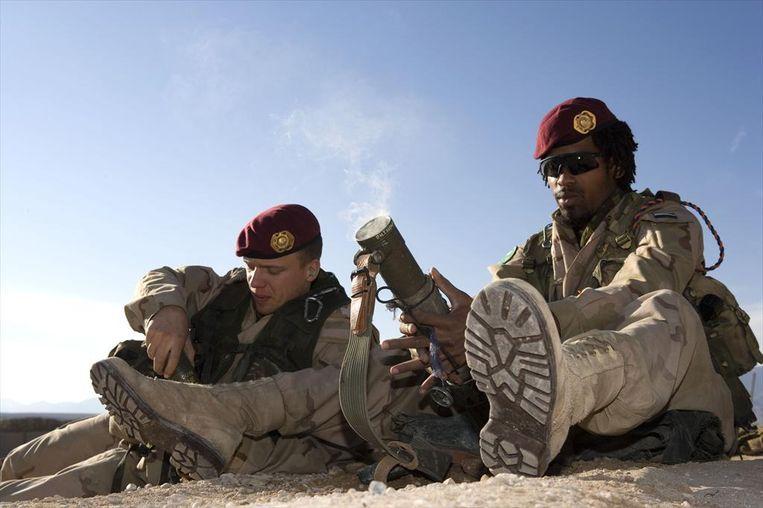 Een 60mm-mortier waarmee in Mali een ongeluk gebeurde en waarbij twee militairen van de Luchtmobiele Brigade om het leven kwamen. Beeld ANP Handouts