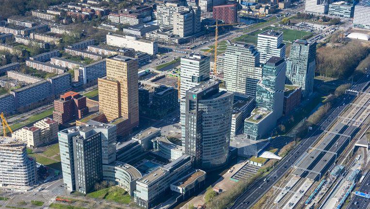Luchtfoto van de Amsterdamse Zuidas. Beeld anp