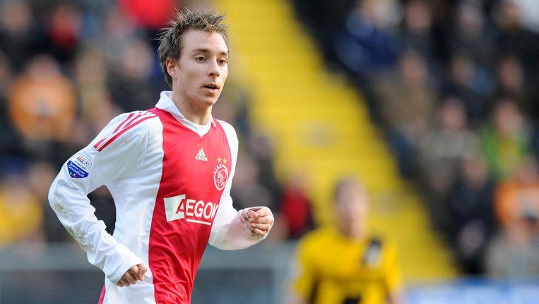 Christian Eriksen in het shirt van Ajax, in 2010 Beeld anp
