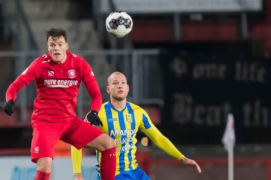 Jan Lammers tijdens de bekerwedstrijd tegen FC Twente.