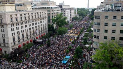 Misschien wel grootste demonstratie tegen politiegeweld en racisme in Washington na dood van George Floyd verloopt vreedzaam