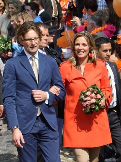 Prins Bernhard jr. met Prinses Annette.