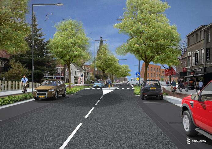 De heringerichte Heezerweg in Eindhoven zou er zo uit kunnen gaan zien.