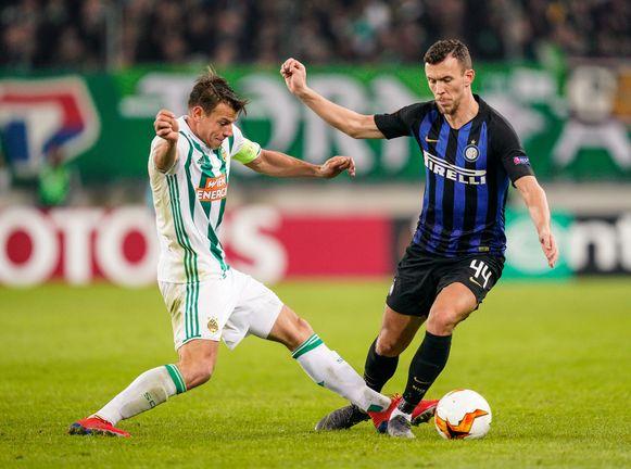 Perisic en Inter wonnen gisteren met 0-1 bij Rapid Wien.