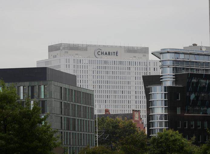 Het Charité-ziekenhuis in Berlijn waar Navalny is opgenomen voor behandeling.