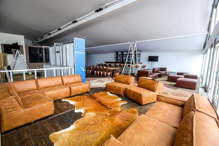 Piloten zullen in deze loungeruimte even kunnen verpozen.