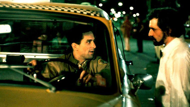 Taxi Driver. Robert de Niro met rechts Martin Scorsese. Beeld -