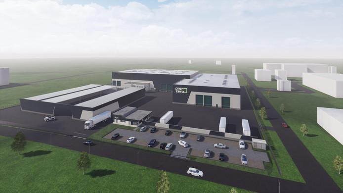 Impressie van de nieuwe sorteerfabriek naast de Rova, die nu in aanbouw is.