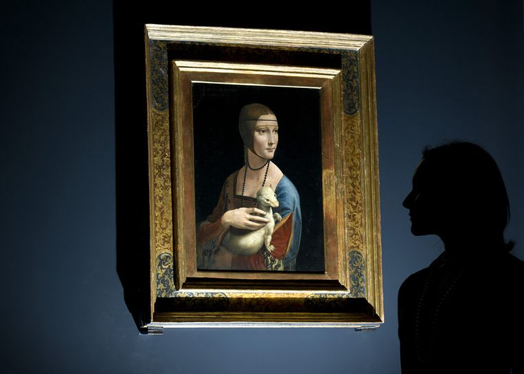 'Portrait of Cecilia Gallerani' (The Lady with an Ermine) Beeld null