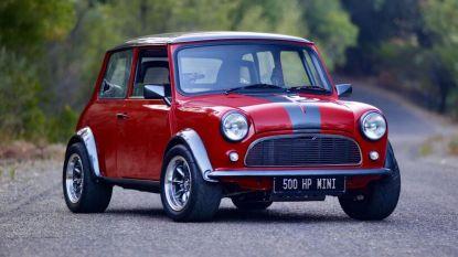 Deze klassieke Mini kost 130.000 euro ... en heeft 500 pk!