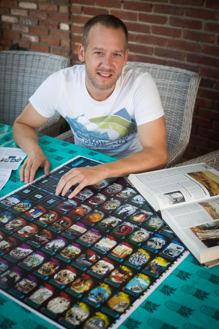 Jason St.Just uit Peer heeft een geschiedkundig kaartspel ontwikkeld.