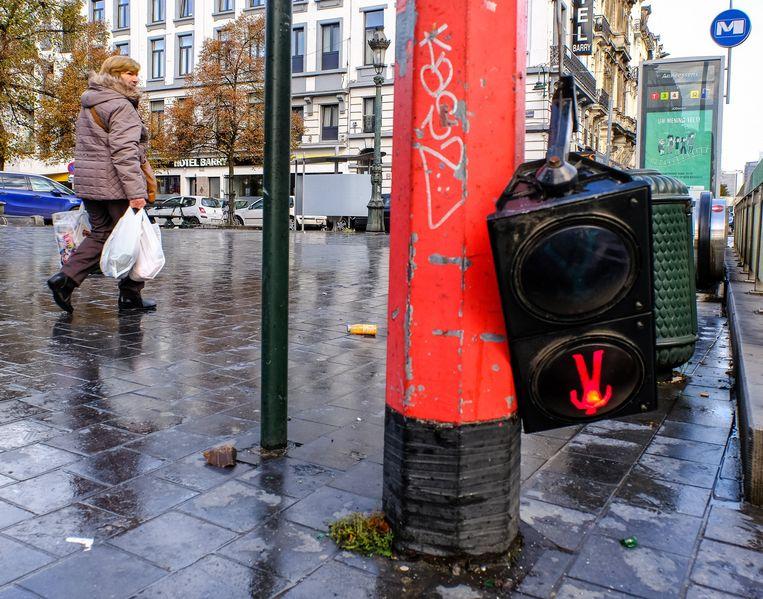 Brussel, na de kwalificatiewedstrijd voor het WK voetbal tussen Marokko en Ivoorkust.