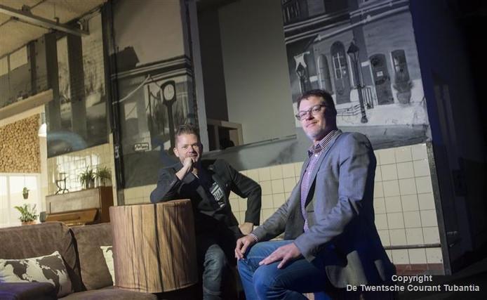 Projectontwikkelaar Dirk van de Ven (links) en directeur Peter Borkens