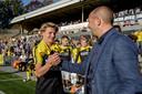 Sem Steijn met vader Maurice bij VVV.