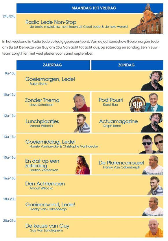 Uitzendingen Radio Lede.