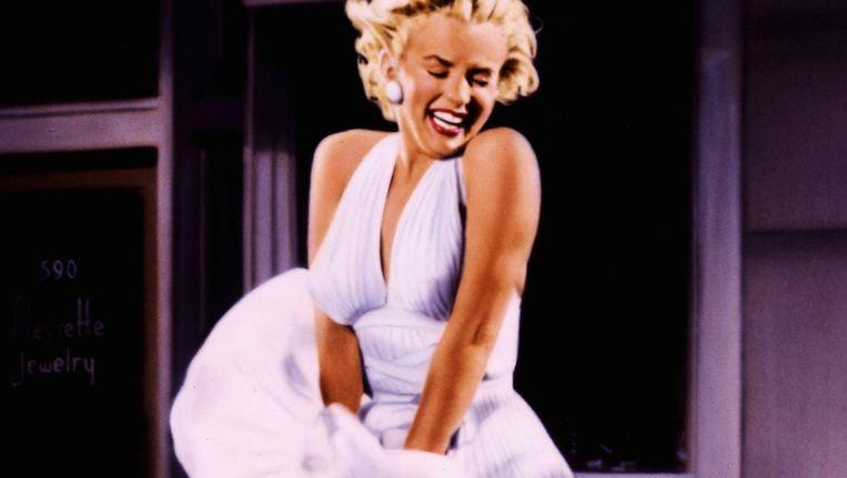 De burgemeester was in het filmpje afgebeeld als Marilyn Monroe Beeld REUTERS